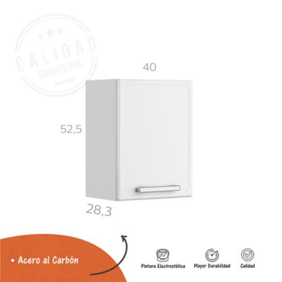Mueble Superior 40cm Gourmet Plus Blanco