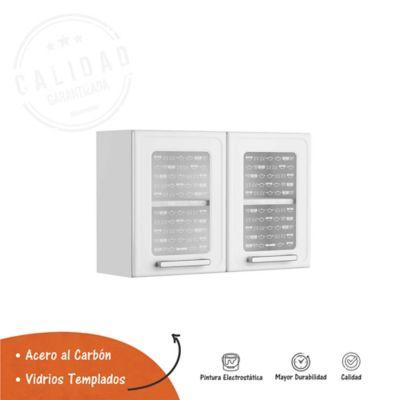 Mueble Superior para  Cocina 80cm Ancho x 52.5cm Alto x28.3cm Fondo Gourmet Blanco