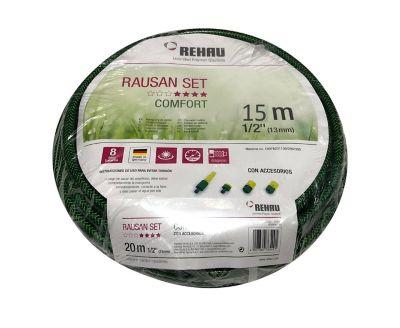 Manguera Jardín Rausan 1/2x15M con Acoples Rápidos