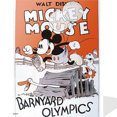 Cuadro Metálico Vintage Mickey Color Surtido