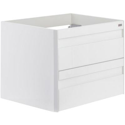 Mueble De Baño Sin Lavamanos 60 2 Cajones Metálico Blanco Serie Bcn-2