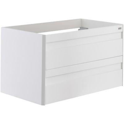 Mueble De Baño Sin Lavamanos 80 cm 2 Cajones Metálico, Color Blanco, Serie Barcelona