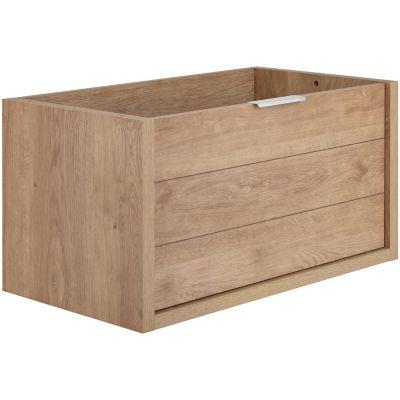 Mueble de Baño sin Lavamanos 80 cm Color Roble 1 Cajón Tino