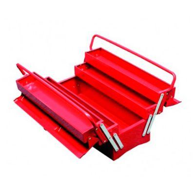 Caja Metálica de 19 Pulg Tipo Acordeón Roja