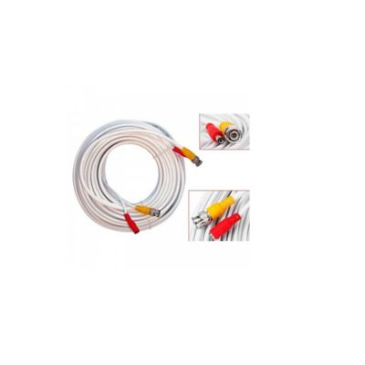 Cable Sat para Cctv Blanco Enc-Vd2015 Video Cable 15 Metros