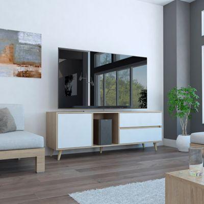 Rack para TV Acacia 58.4x158.4x45.6cm Rovere/Blanco