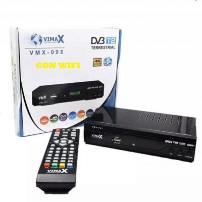 Decodificador TDT Wifi YouTube USB con Control Remoto Negro TDT-WIFI