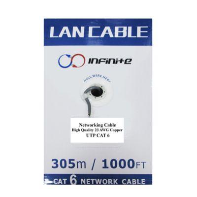 Carrete de Cable Utp Categoría 6 100% Cobre Caja por 305 Metros CAR6CINF