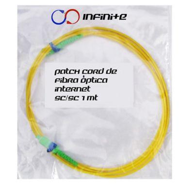 Set de 2 Cables Cable Patch Cord Fibra Óptica SC/SC Simplex Monomodo 1mts PCFOAMR1