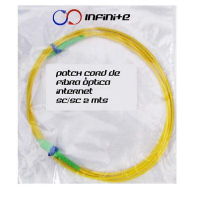 Set de 2 Cables Cable Patch Cord Fibra Óptica SC/SC Simplex Monomodo 2mts PCFOAMR2