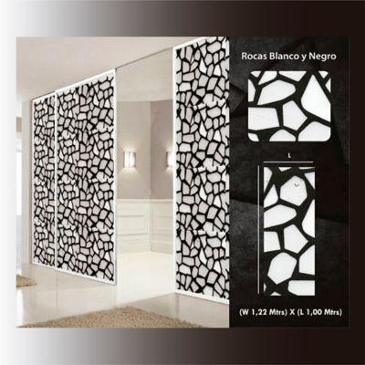 Película Decorativa Rocas Negras 1,22m Ancho HGSM002