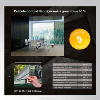Película Control Nano Cerámica Verde Azul 1,52m Ancho HGCSGBL65
