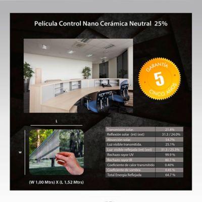 Película Control Nano Cerámica Neutral 1,52m Ancho HGCSN25