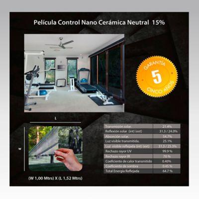 Película Control Nano Cerámica Neutral 1,52m Ancho HGCSN15