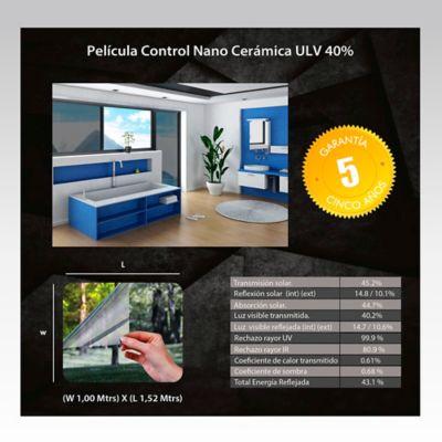 Película Control Nano Cerámica 1,52m Ancho HGCSULV40