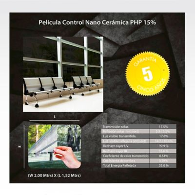 Película Control Nano Cerámica 1,52m Ancho HGCSPHP15