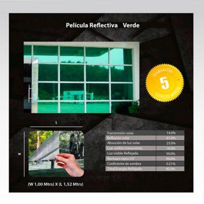 Película Reflectiva Verde 1,52m Ancho HGCSRGREN
