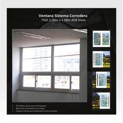 Ventana Corrediza 1,2x1 m Blanco HGWSBF75T120SF