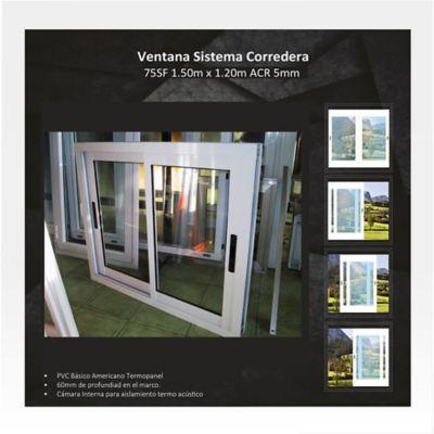 Ventana Corrediza 1,5x1,2 m Blanco HGWSBF75T150SF