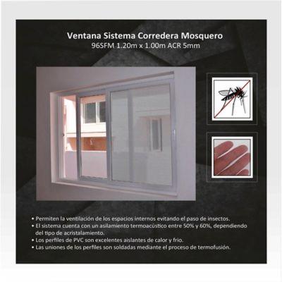 Ventana Corrediza de Mosquero 1,2x1 m Blanco HGWSBF96TS120FM