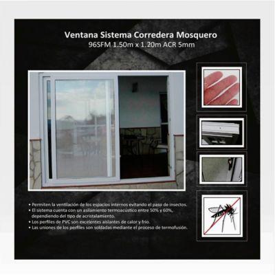 Ventana Corrediza de Mosquero 1,5x1,2 m Blanco HGWSBF96TS150FM