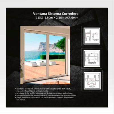 Ventana Corrediza 2,1x1,8 m Blanco HGWSBF115G