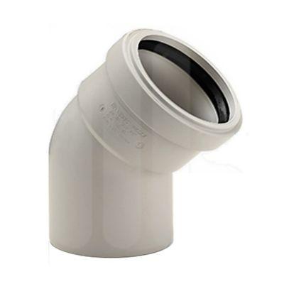 Codo 45 Polipropileno Incola Desague Insonoro 200 mm
