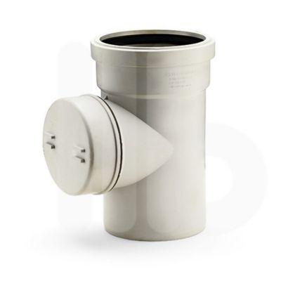 Tee Tapon Limpieza Polipropileno Incola Desague Silencioso 110 mm