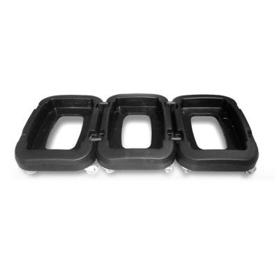 Base Papeleras 53 y 35 Litros Set x3 Negro
