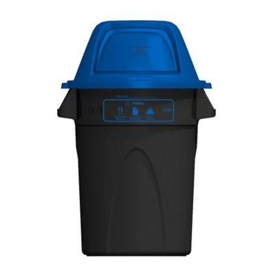 Contenedor Elite ECO 121 Litros Azul- Negro - Plástico