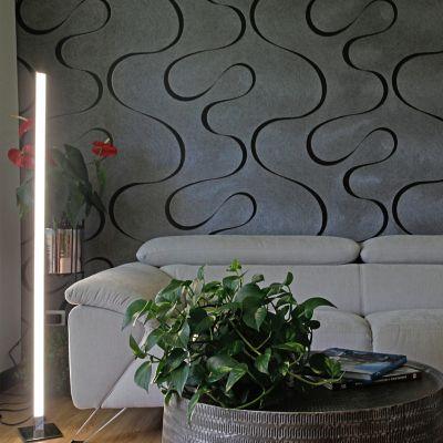 Lámpara De Piso Led Iris 1400 Lúmenes 24w Cromo