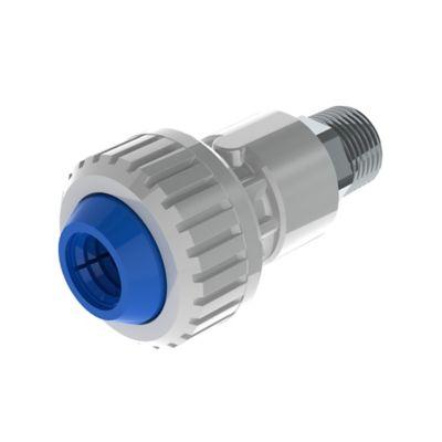 Conector Macho 1/2 pulg DZR X PE 16mm