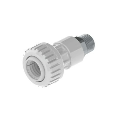 Conector Macho 1/2 pulg DZR X PE 20mm
