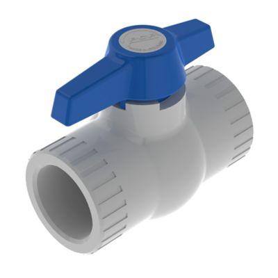 Válvula de Bola de 1 1/2 pulg PVC para Soldar