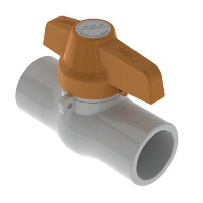 Válvula de Bola 1 1/2 pulg PVC para Soldar ECO