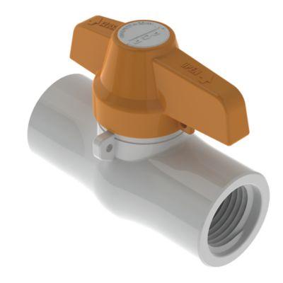 Válvula de Bola 1 1/2 pulg PVC para Roscar ECO
