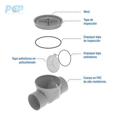 Check Anti-Retorno de Aguas Residuales de 6 pulg