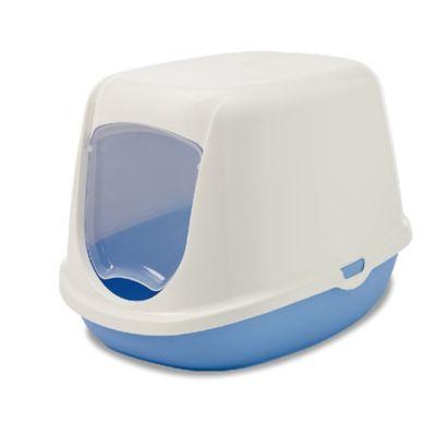 Arenera Gato Pequeño Blanco - Azul