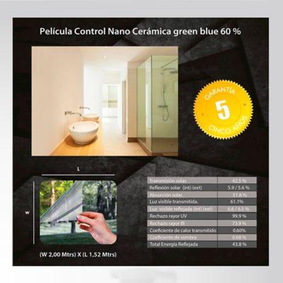 Película Control Nano Cerámica Verde Azul 2x1,52m HGCSGBL60-2m