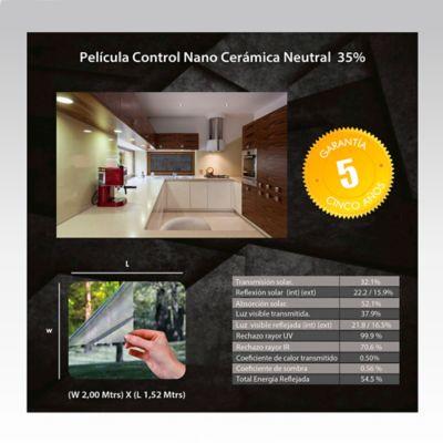 Película Control Nano Cerámica Neutral 2x1,52m HGCSN35-2m