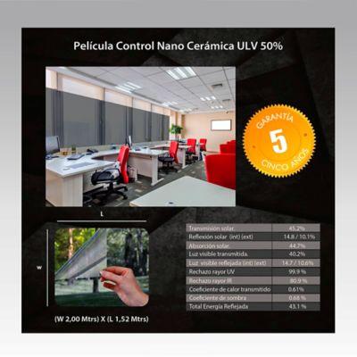 Película Control Nano Cerámica 2x1,52m HGCSULV50-2m