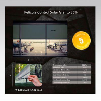 Película Control Solar Grafito 2x1,52m HGCSGRF35-2m
