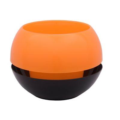Matera con Reservorio en Plástico 23 cm Naranja - Negro