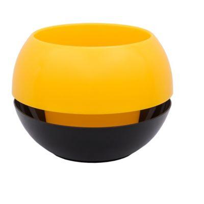 Matera con Reservorio en Plástico 23 cm Amarillo - Negro