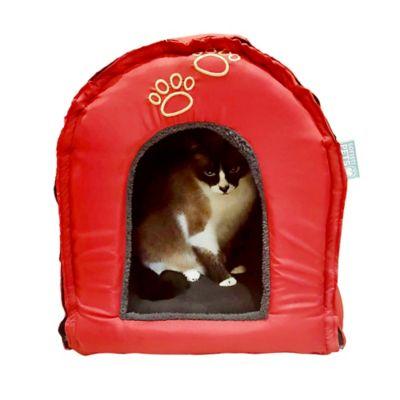 Iglú para Mascotas Desarmable 43x45x43 cm Rojo