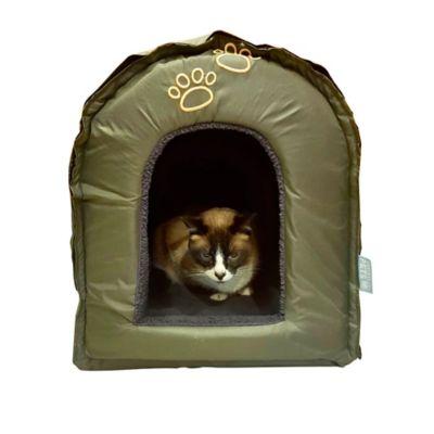Iglú para Mascotas Desarmable 43x45x43 cm Verde