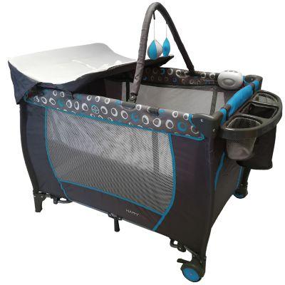 Corral Mecedora Vibrador Happy Baby Chobi Azul