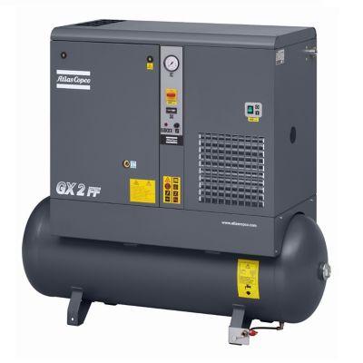 Compresor de Tornillo Lubricado 10 HP + Secador de Aire + Tanque Pulmón Incorporado