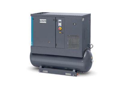 Compresor de Tornillo Lubricado 15HP Secador de Aire + Tanque Pulmon Incorporado