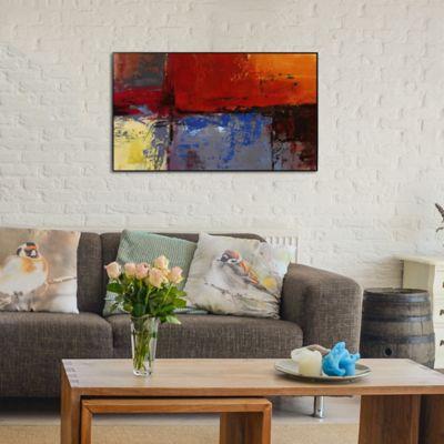Cuadro Retablo Abstracto  60x100 cm Rojo